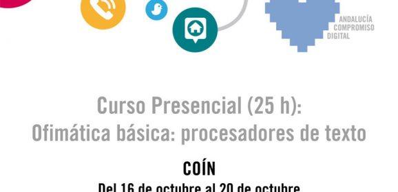 Ofimática básica: procesadores de texto, curso presencial
