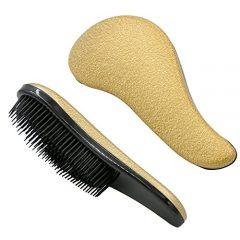 Cepillo de Detangler, Cepillo de desenredar profesional Rusee Cepillo de pelo, cepillo Resistente, sin encrespamiento, masaje del cuero cabelludo, para cabello h?medo o seco (dorado)